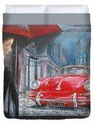 1964 Porsche 356 Coupe Duvet Cover