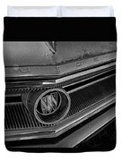 1965 Buick Hood Ornament B And W Duvet Cover