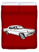 1965 Chevy Impala 327 Convertible Illuistration Duvet Cover