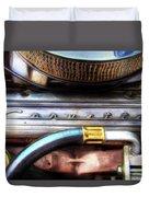 1965 Corvette Engine Digitally Painted Duvet Cover
