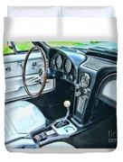 1965 Corvette Inside The Cockpit Duvet Cover