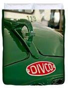 1965 Divco Milk Truck Hood Ornament Duvet Cover
