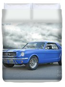 1965 Ford Mustang 'blue Coupe' IIa Duvet Cover