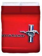 1965 Ford Mustang Emblem 4 Duvet Cover