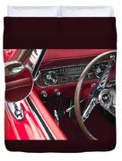 1965 Ford Mustang Fastback Dash Duvet Cover