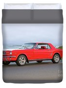 1965 Ford Mustang 'red Coupe' II Duvet Cover