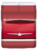 1965 Ford Thunderbird Emblem Duvet Cover