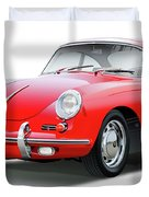 1965 Porshe 356 Sc Coupe Duvet Cover
