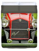 1966 Alfa Romeo Quattro Route 4r Grille Duvet Cover by Jill Reger