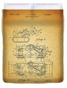 1966 Bulldozer Patent Duvet Cover