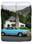 1966 Chevlelle Maibu Hardtop Duvet Cover