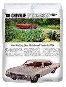 1966 Chevrolet Chevelle Turbo-jet V8's Duvet Cover