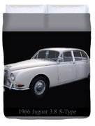 1966 Jaguar 3.8 S Type Duvet Cover