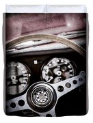 1966 Jaguar Xk-e Steering Wheel Emblem -2489ac Duvet Cover