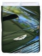 1967 Aston Martin Db6 Coupe Hood Emblem Duvet Cover