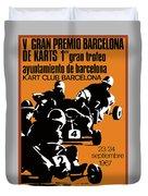 1967 Barcelona Kart Racing Poster Duvet Cover