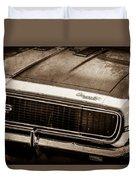 1967 Chevrolet Camaro Ss350 Convertible Grille Emblem -0704s Duvet Cover