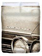 1967 Chevrolet Chevelle Ss Super Sport Emblem -0413s Duvet Cover