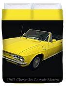 1967 Chevy Corvair Monza Duvet Cover
