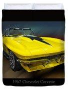 1967 Chevy Corvette Convertible Duvet Cover