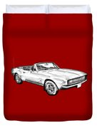 1967 Convertible Camaro Car Illustration Duvet Cover