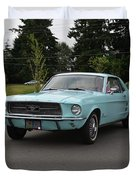 1967 Ford Mustang Watts Duvet Cover