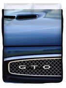 1967 Pontiac Gto Grille Emblem Duvet Cover