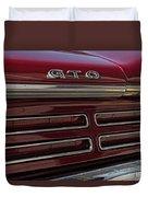 1967 Pontiac Gto Logo Duvet Cover