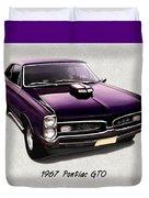 1967 Purple Pontiac Gto Duvet Cover