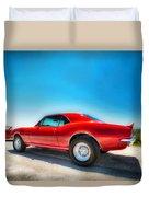1967 S S Camaro_hdr Duvet Cover