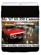 1967 Ss 350 Camaro Scharf Duvet Cover