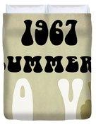 1967 Summer Of Love Newspaper Duvet Cover