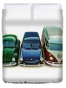 1967 Volkswagen Beetle Squareback And The Box Duvet Cover