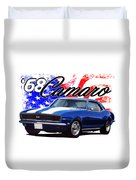 1968 Camaro Stars And Stripes Duvet Cover