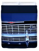 1968 Chevrolet Impala Ss Grille Emblem Duvet Cover