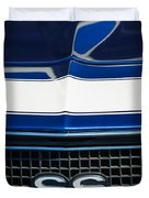 1968 Chevrolet Yenko Super Camaro Ss Grille Emblem -1745c Duvet Cover