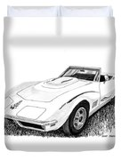 1968 Corvette Duvet Cover