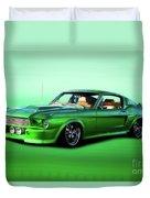 1968 Ford Mustang Fastback II Duvet Cover