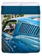 1968 Ford Mustang Fastback In Blue Duvet Cover