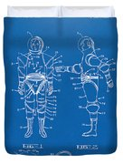 1968 Hard Space Suit Patent Artwork - Blueprint Duvet Cover by Nikki Marie Smith