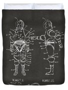 1968 Hard Space Suit Patent Artwork - Gray Duvet Cover by Nikki Marie Smith