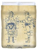1968 Hard Space Suit Patent Artwork - Vintage Duvet Cover