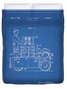 1968 Lift Truck Patent Duvet Cover