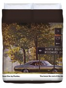 1968 Pontiac Gto - Woodward - The Great One By Pontiac Duvet Cover