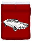 1969 Amc Javlin Car Illustration Duvet Cover