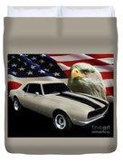 1969 Camaro Rs Tribute Duvet Cover