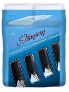1969 Chevrolet Corvette Stingray Emblem Duvet Cover