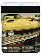 1969 Dodge Coronet Super Bee Duvet Cover