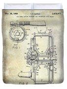 1969 Fly Reel Patent Duvet Cover