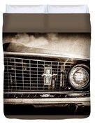 1969 Ford Mustang Grille Emblem -0129s Duvet Cover